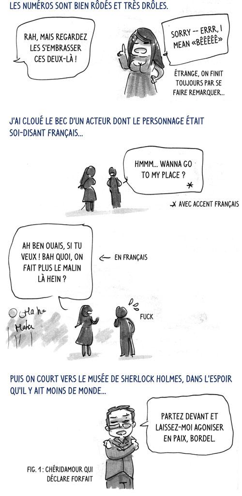 jour 4 : un acteur soi-disant français bien mouché, Chéridamour qui déclare forfait