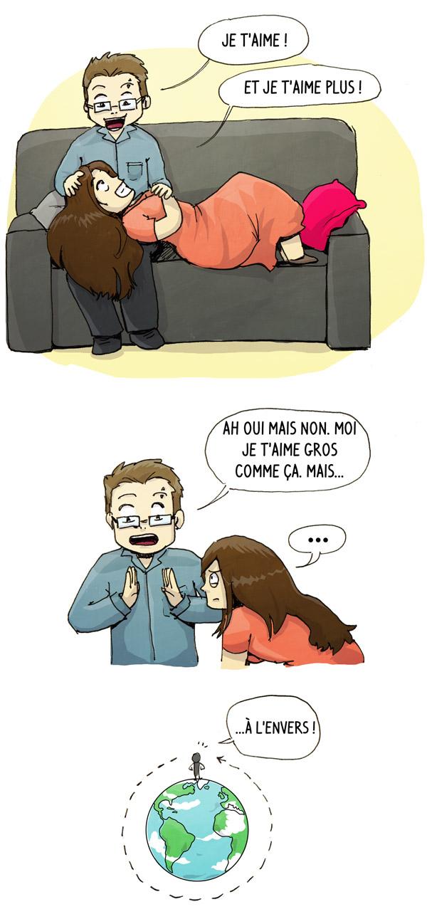 Image : Chéridamour me dit qu'il m'aime gros comme le tour de la terre