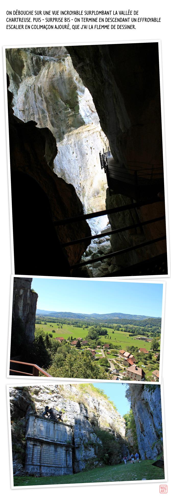 on termine le parcours sur une vue magnifique sur la vallée de Chartreuse