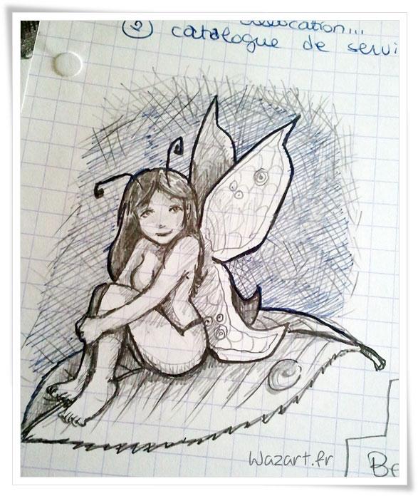 une femme-papillon