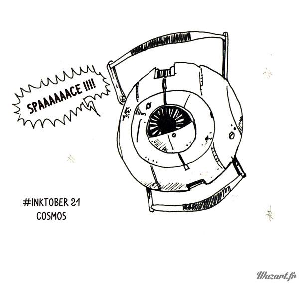 inktober 21 : cosmos