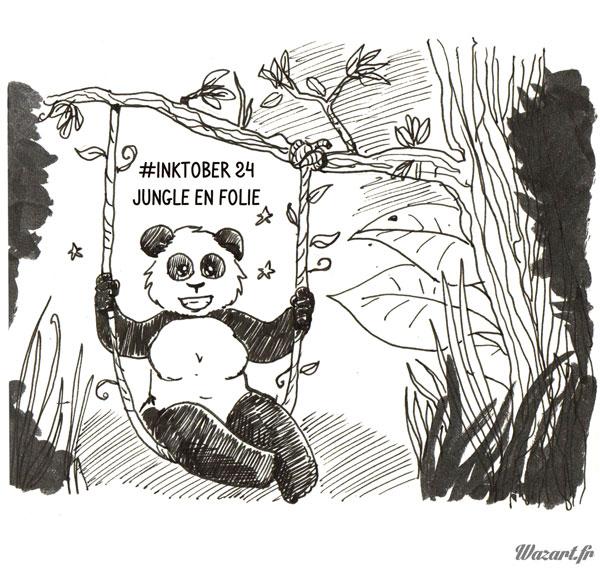 inktober 24 : Jungle en folie