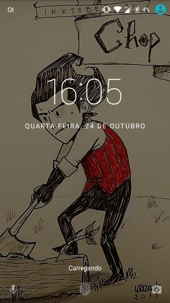 Mon dessin en fond d'écran d'un smartphone visiblement espagnol