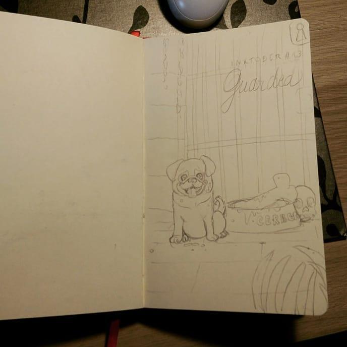 étape du crayonné
