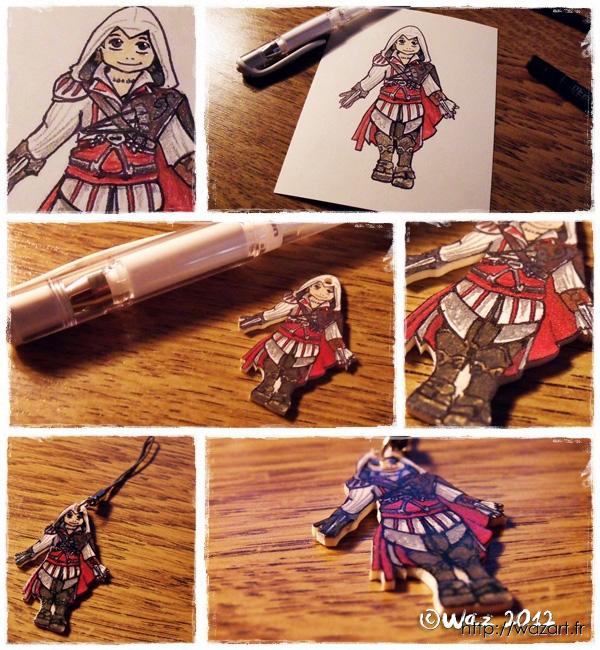 Ezio en chibi sur plastique