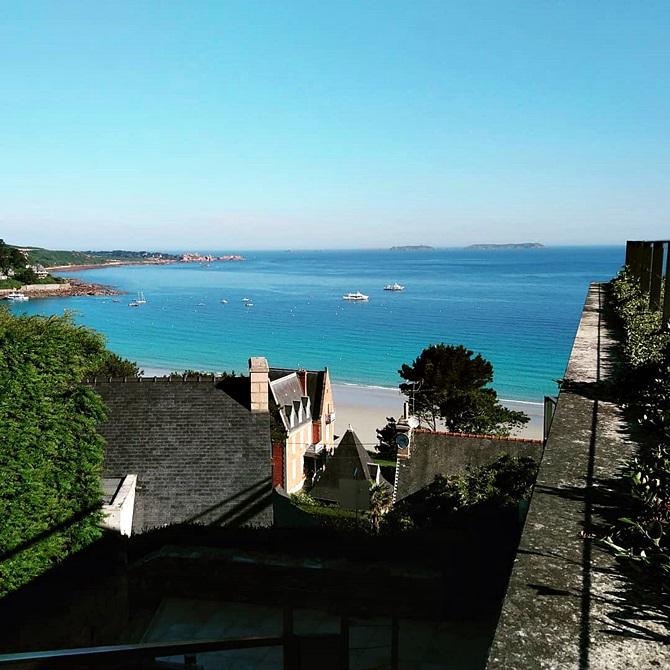 Photo prise depuis la terrasse de l'Agapa à Perros-Guirec