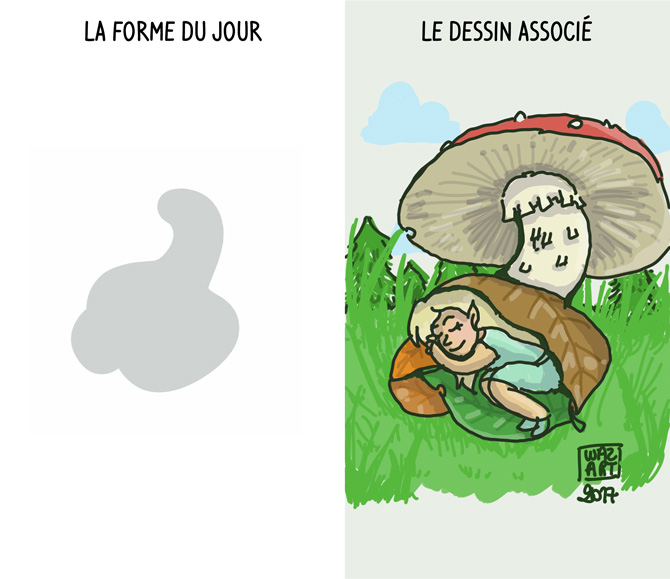 champignon et lutin